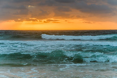 Sunrise Seascape (Merrillie) Tags: daybreak shoreline sand landscape nature australia surf rocks killcarebeach newsouthwales waves centralcoast nsw clouds beach ocean water coastal dawn photography sea sky seascape waterscape coast killcare outdoors
