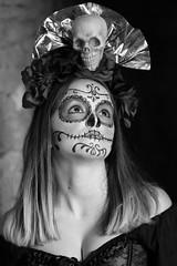 Autumn #222 bw (Az Skies Photography) Tags: model autumn modelautumn female woman femalemodel day dead dia de los muertos dayofthedead diadelosmuertos makeup tumacacori arizona az tumacacoriaz october 21 2017 october212017 102117 10212017 canon eos 80d canoneos80d eos80d canon80d