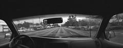 Widelux drives thru Talent (ASHLANDJET) Tags: film widleuxf8 swinglens panorama wideangle kodak bw400cn expiredfilm 35mm blackandwhite monochrome vintagecamera talent oregon epsonv500 driving