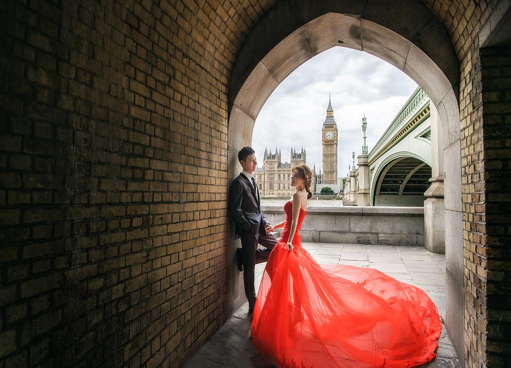 倫敦婚紗 大笨鐘婚紗拍攝  禮服: Toris Wedding
