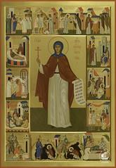 Св. Евгения с житием. Храм Св.Евгении, г. Санкт-Петербург.
