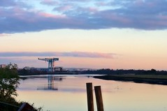 Photo of Glasgow, Sunset  River Clyde bei Beardmore Hotel
