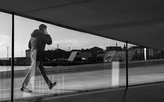 Looking out, Oslo Opera House