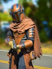 Intimidation (swong95765) Tags: costume warrior gun laser armor bokeh cape helmet
