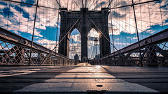 The Brooklyn bridge - New York - Travel photography (Giuseppe Milo (www.pixael.com)) Tags: photo newyork bridge street landmark city clouds brooklyn sun urban candid travel photography sky streetphotography geotagged architecture unitedstates us onsale