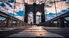 The Brooklyn bridge - New York - Travel photography (Giuseppe Milo (www.pixael.com)) Tags: photo newyork bridge street landmark city clouds brooklyn sun urban candid travel photography sky streetphotography geotagged architecture unitedstates us onsale portfolio