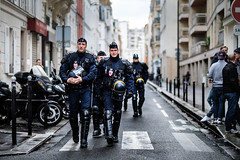 French Anti Riot Police, Paris (Kristoffer Trolle) Tags: france paris police antiriot demonstration