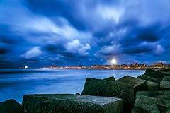 The way to Scheveningen (sconi piladi) Tags: netherlands landscape canon 5d mark iii scheveningen beach sea clouds blue hour blaue stunde strand wolken long exposure langzeitbelichtung sigma 2470