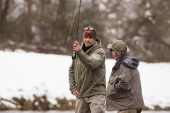 North Georgia Snow & Fly Fishing (DitchGyrl) Tags: 2017 cartecay danny ellijay fishing flyfish jason reelemin river snow december winter