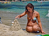 the serious business of sand castle building (digitris) Tags: candid beach sea summer swimming bikini sand sandcastle greece thasos digitris digitri