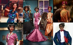 Harlem Theatre Collection Reflection (Still Museum) Tags: barbie doll signature collector diorama aa african american claudette gordon madam lavinia curvy articulated