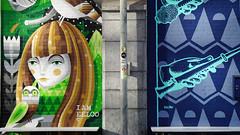 - Wall Paintings Hofbogen - (Jacqueline ter Haar) Tags: hofbogen rotterdam manmetbrilkoffie vijverhofstraat muurschildering wallpainting iameelco rulers mural