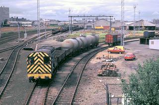 Tyneside Central freight depot Gateshead 08384 1st Aug 85 C7012