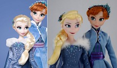 LE vs Classic Elsa and Anna Dolls - Olaf's Frozen Adventure (drj1828) Tags: frozen olafsfrozenadventure doll comparison limitededition 17inch classic 12inch