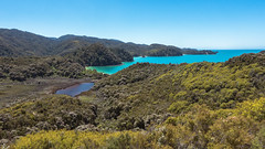 Abel Tasman National Park (redfurwolf) Tags: newzealand landscape abeltasman nationalpark sky bay forest trees water outdoor nature ngc blue redfurwolf sony rx100m4