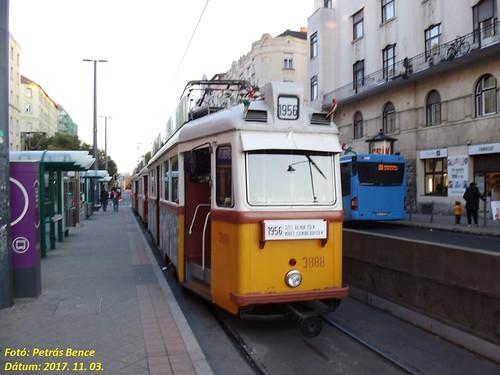 Ganz UV 3888 Budapest, Móricz Zsigmond körtér, 2017. 11. 03.