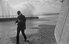 brian (doggle) Tags: minoltahimatic7s hoyaorangegfilter 35mm adoxsilvermax100 film monochrome blackandwhite brighton saltdean sea water wave waves stormbrian brian storm