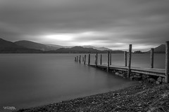 The last Light (Carl Yeates) Tags: canon550d derwent derwentwater cumbria lakes lakedistrict 10stop longexposure mono black white blackwhite