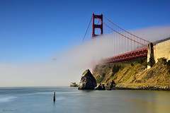 Flowing Fog|Golden Gate, San Francisco (miltonsun) Tags: goldengatebridge sanfrancisco lowfog foginsf bridge longexposure seascape bay ngc bayarea wave ocean shore seaside coast california westcoast pacificocean landscape outdoor clouds sky water rocks mountains rollinghills sea beach cliff nature