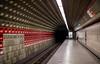 Alone on the station (alllex777) Tags: canon sigma 35mm art 14 prague subway station train undergraund