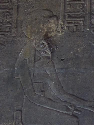 Lizard on Sekhmet's Face, Philae