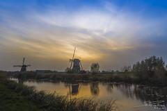 Windmills Nederwaard No. 7 & 8 during sunset. (PvRFotografie) Tags: nederland holland kinderdijk molen windmolen molens windmolens windmill windmills sunset sundown clouds sonyilca99m2 sigma1224mm sigma12244556 1224mm 12mm leesw150 lee09softgrad nd