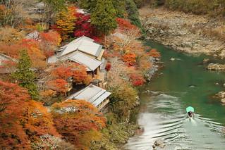 Autumn riverside ---Arashiyama in Kyoto---