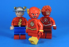 Flash X3 (MrKjito) Tags: lego minifig super hero comics comic custom flash jay garrick wally west barry allen rebirth titans button speed force speedster