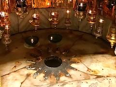 1 - Jézus Krisztus születésének helyét ezüstcsillag jelöli - Jézus Krisztus születésének barlangja / Jaskyňa Narodenia Ježiša Krista
