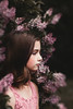 (Rebecca812) Tags: girl child lilacs beauty profile sideview brownhair tween lace romatic floral flower shrub art photography people portrait canon rebeccanelson rebecca812