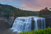 Middle Falls Autumn Sunset at Letchworth State Park (Mike Ver Sprill - Milky Way Mike) Tags: middle falls autumn fall foliage long exposure waterfalls waterfall water colorful sunset sunrise letchworth state park letch worth new york ny travel landscape nature clouds