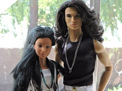 Kyla & Chayton (~EverFashionista216~) Tags: integrity toys supermodel convention ollie lawson color infusion fashion royalty 2016 raven hair dolls northwestcoastnativeamericanbarbie made move barbie fashionistas goddessfacemold native american dollsoftheworld mattel collector etsy necklace tribal boho jewerly style lab homme male ci fr