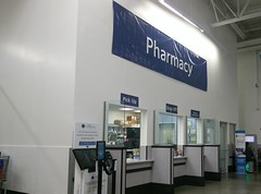 Newly remodeled pharmacy, temporary signage (l_dawg2000) Tags: 2017remodel apparel café desotocounty electronics food gasstation meats mississippi ms pharmacy photocenter remodel samsclub southaven tires walmart wholesaleclub unitedstates usa