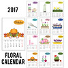 2017 year calendar with season flowers (Betastudiopro) Tags: cactus chamomile tulips hyacinth lavender bamboo crocus narcissus daffodil jonquil pansy heartsease domestic home garden gardening spring summer autumn winter monthes calendar pumpkin template set season flat vector collection illustration isolated flowers plants sticker shop store floral design willow easter briarroses grid planner weeks 2017month twelve organizer november december january