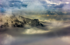 Alpine mist (snowyturner) Tags: mountains alps rocks mist clouds geneva montreux snow vista altitude