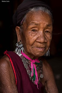 Portrait of an elderly Kayah Woman