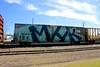 MHK (NJphotograffer) Tags: graffiti graff trackside railroad rail art freight train bench benching box car boxcar wholecar mhk crew