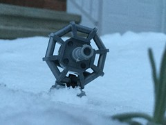 Hoth Dish Turret (splinky9000) Tags: kingston ontario snow toys outdoors lego star wars hoth the empire strikes back dish turret