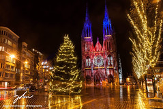 Christmas reflections (jolandeschepper) Tags: landscape cityscape night nightphotography lights reflections christmas belgium ostend flanders oostende
