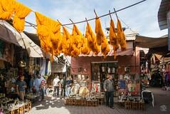 Colors of Marrakeshs Medina (jennifer.stahn) Tags: travel travelphotography marokko morocco marocco maroc marrakech marrakesch marrakesh medina färberei colors dyework nikon jennifer stahn
