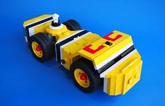 Big Red 23 (David Roberts 01341) Tags: lego technic powerfunctions space minfigure truck explorer mining homeworld allterrain scifi yellow