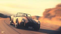 California, 1979. (at1503) Tags: shelby cobra california sunset light goldenlight road usa america retro 1979 granturismo granturismosport ps4 digitalmotorsport photography eveninglight speed