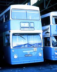 Slide 111-09 (Steve Guess) Tags: southend borough transport essex england gb uk bus london exlt daimler fleetline ghv106n dms dm1106