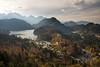 Neuschwanstein *** Explored Nov 4, 2017 #94 *** (DelightTurkish) Tags: bayern bavaria nature landscape landschaft see berge mountains clouds wolken neuschwanstein füssen