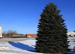 ADBF 1760 (GLC 392) Tags: adbf 1760 adrian bliffsfield railroad railway train emd gp9 mason mi michigan snow tree jackson lansing jail
