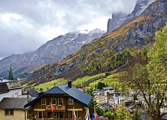 Scenic village of Leukerbad (somabiswas) Tags: saariysqualitypictures switzerland leukerbad alps valais clouds nature landscape d5600