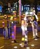 - (txmx 2) Tags: hamburg stpauli reeperbahn night street beatlesplatz steel sculpture reflection