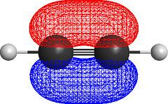 Acetylene Molecular Orbitals (ChiralJon) Tags: molecular modelling acetylene ethyne hydrocarbon organic chemistry modeling computer graphics chch 3d orbitals homo energy geometry physical science