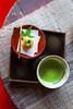 In the temple (DanÅke Carlsson) Tags: japan japanese buddhism green tea mochi tray table rustic red carpet nagasaki religion temple