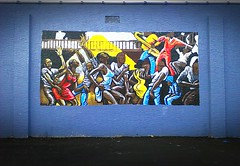 All That Jazz~ (K.Chris ~AlwaYs LeaRning~) Tags: wallart graffiti urban​ city color colour art jazz dance dancers classic metro metropolitan innercity